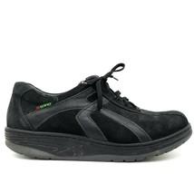 MEPHISTO SANO Rocker Sole Sneakers Walking Shoes Black Leather Women's s... - $59.39