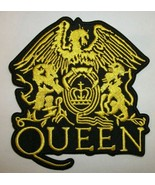 """Freddie Mercury~Queen~Crest~UK~PATCH~Embroidered~4"""" x 3 5/8""""~Iron or Sew - $4.95"""