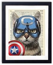 Captain Cat America Super Hero Vintage Dictiona... - $38.60