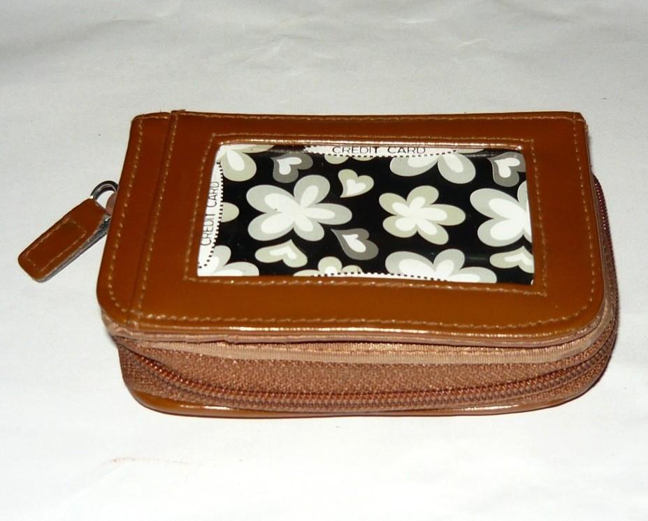 Tan Floral Wallet/change Purse