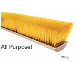 "24"" Push Broom Floor Sweep Yellow Plastic Fiber Broom Head - $39.95"