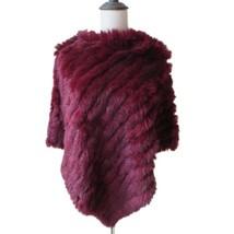 Winter Fur Capes Coat Women Real Rabbit Fur Pullover Poncho Bridal Weddi... - $29.99