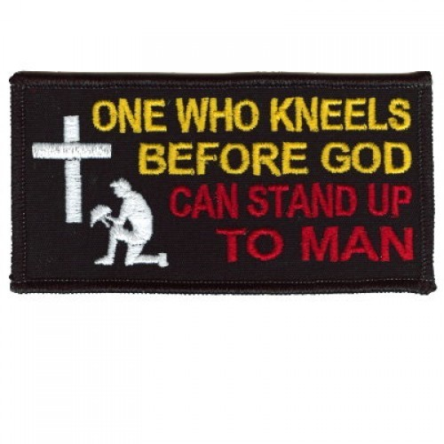 Embroidered Christian Patch One Who Kneels Before God Patch