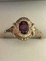 EFFY 14K Rose Gold Rhodolite Garnet and Diamond Ring (Size 11 1/4) - $585.00