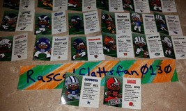 NFL FOOTBALL TEENYMATES SERIES 6 COMPLETE SET OF 32 PLAYER PROFILE CARDS... - $3.95
