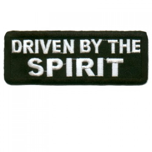 Embroidered Christian Patch Driven By The Spirit Patch