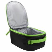 Jurassic World 3D Insulated Lunch Bag, Zipper Reclosable, BPA  Black & Green image 2
