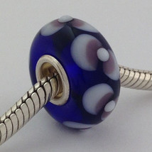 Authentic Trollbeads Ooak Universal Unique (12) Murano Glass Bead Charm Fits All - $33.24