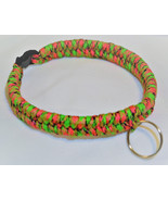 "Watermelon Colored 550 Paracord Dog Collar 12 1/2"" Black Quick Release B... - $18.00"