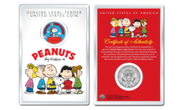 Peanuts SNOOPY vs. RED BARON OFFICIAL JFK Half Dollar US Coin in PREMIUM... - $10.84