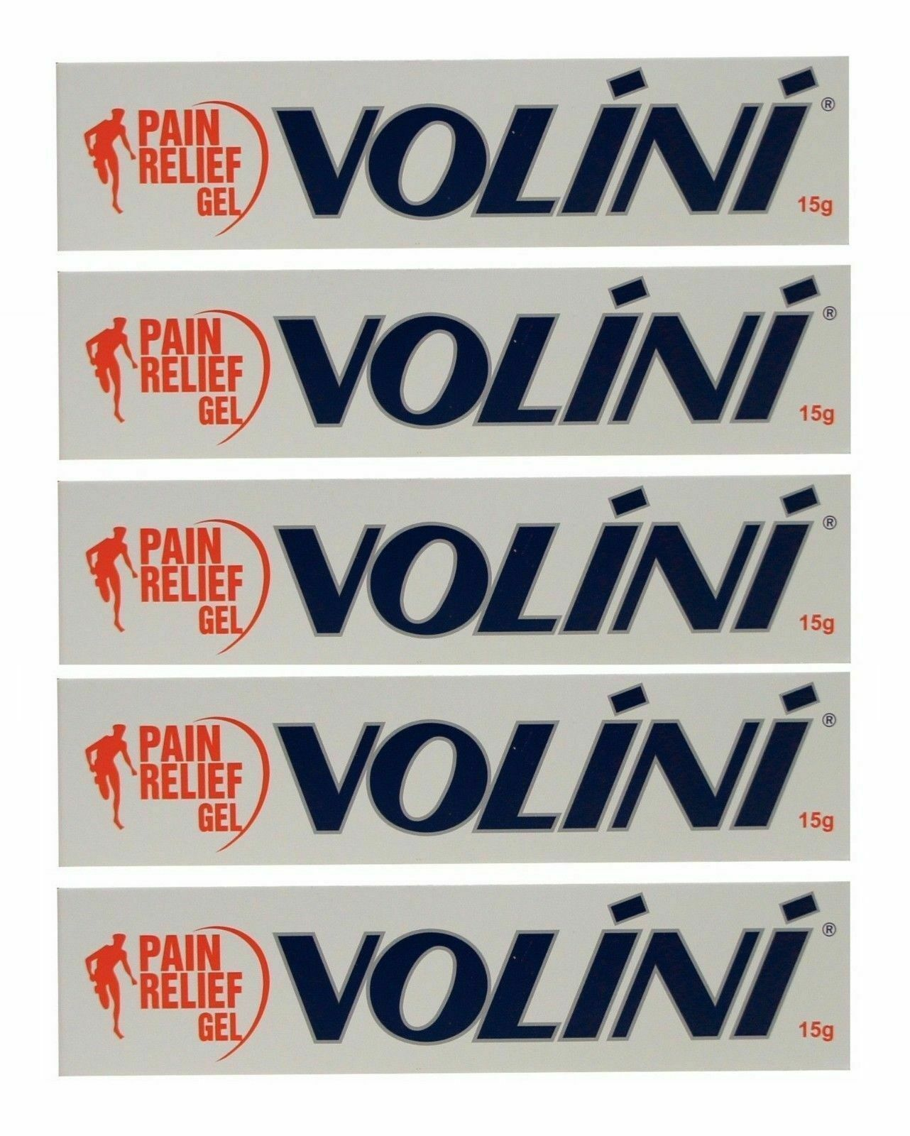 Primary image for  Pack Of 5 Pcs Volini Pain Relief Gel 15GM- Free Shipping Worldwide