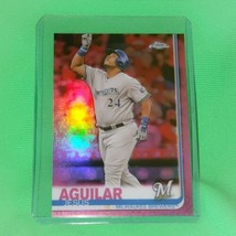 Mlb Jesus Aguilar Milwaukee Brewers 2019 Topps Chrome Pink Refractor #10 Mint - $1.70