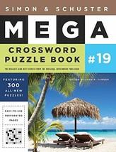 Simon & Schuster Mega Crossword Puzzle Book #19 (19) (S&S Mega Crossword... - $14.83