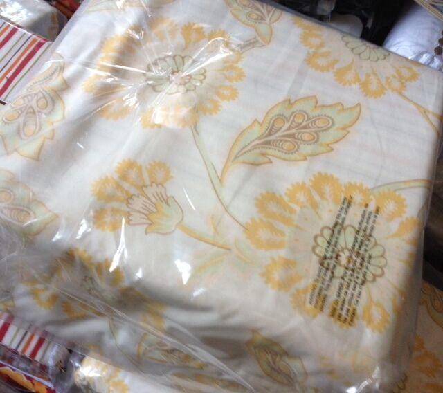 Pottery Barn Josephine Duvet Cover Sheet Set Yellow King Set Ensemble Floral New - $143.14