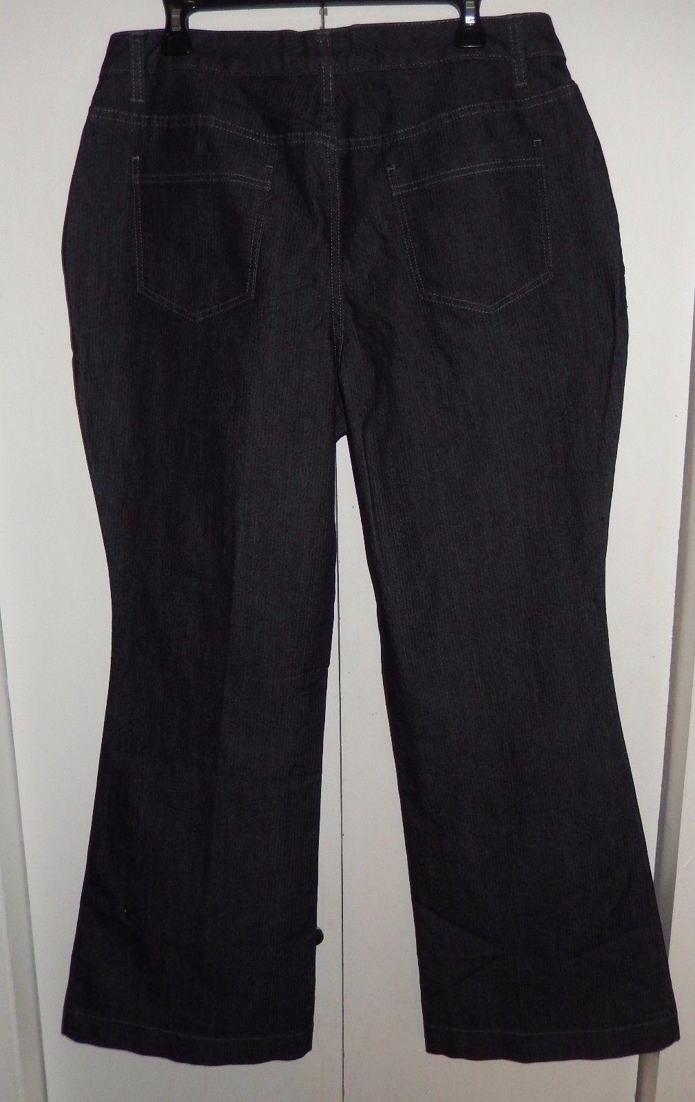 NEW A.N.A Modern Fit Low Rise Pin Strip Denim Trouser Pants Size 18W (38 x 31)
