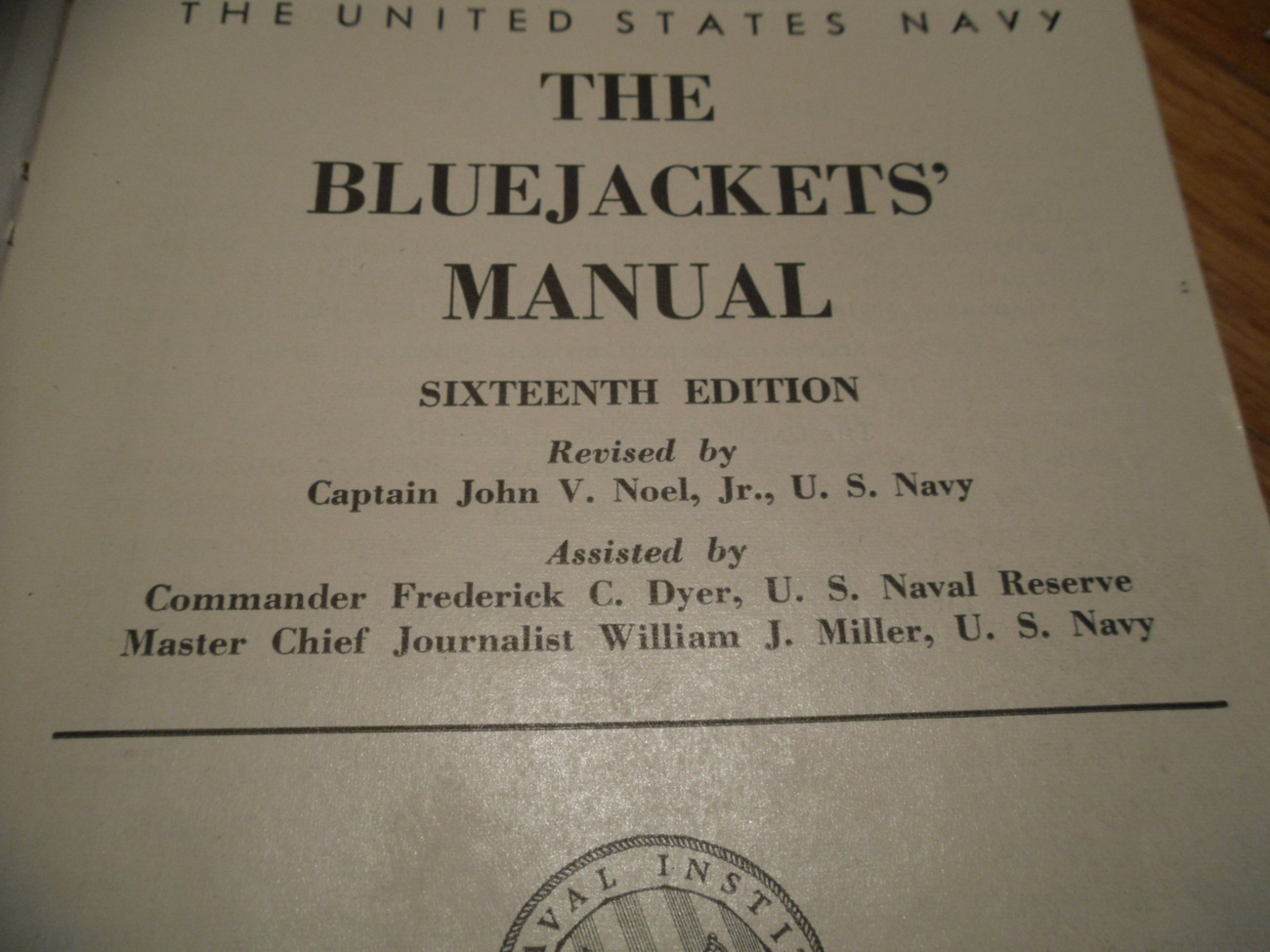 Book - THE BLUEJACKET'S MANUAL - The United States Navy
