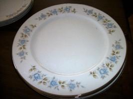 NEW Lennold Fine China Rhapsody 1812 Dinner Plate BLUE ROSES - $10.88