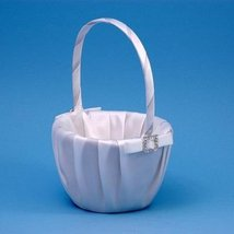 Wedding Flower Girl Baskets : Glamour Collection - Flowergirl Basket / White - $31.94