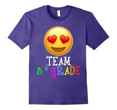 Emoji Team Third Grade Teacher T Shirt for lover Men - $17.95+