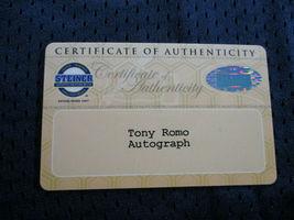 TONY ROMO / AUTOGRAPHED DALLAS COWBOYS BLUE REEBOK NFL FOOTBALL JERSEY / STEINER image 8