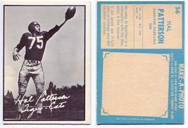 1961 Topps Hal Patterson Card #56 Hamilton Tiger-Cats University of Kansas - $11.19