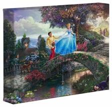 Thomas Kinkade Disney Tela 20.3cmx25.4cm - Cenerentola Wishes Nuovo con COA - $128.69