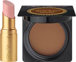 Too Faced Kiss & Makeup - Deluxe Nude Beach Lipstick & Deluxe Medium/Deep Bronze - $24.99