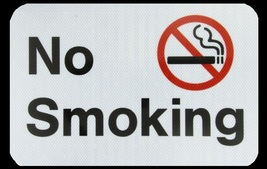 Tapco No Smoking Prismatic Aluminum Safety Sign Rectangular 12x18 inches... - $35.00