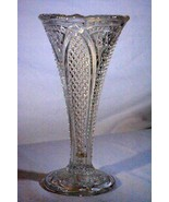 Antique US Glass Massachusetts Clear Glass Vase Circa 1898 - $14.48