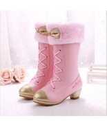 Princess Pink Girls Snow Boots Childrens Girls Winter Fur Boots In 3 Co... - £76.36 GBP+