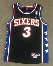 Nike Allen Iverson Philadelphia 76ers 1977 Rewind Jersey #3 Youth Medium Sewn - $39.59