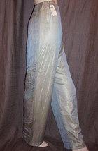 Bill Blass Blue Silk Chiffon and Gold Silk Lamé Shimmering Pants 12 NWT - $680.00