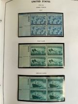 MNH 1938-1984 US Plate Block Collection Stamp Album Harris United States USA image 9