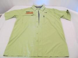 Green Under Armour Heat Gear Shirt - Humphrey & Associates Logo - Size M - $23.38