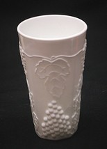 """Old Vintage Harvest Milk Glass by Colony 5-3/4"""" Cooler Tumbler Grapes & Leaves - $16.82"""