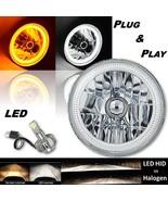 """(1) 7"""" Switchback White Halo Amber Blinker LED Headlight For 97-18 Jeep ... - $99.95"""