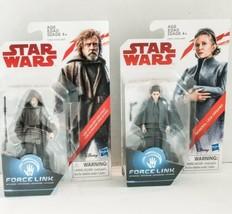 """Lot of 2: Luke Skywalker Jedi Exile & General Leia  3.75"""" Star Wars - Brand New - $14.49"""