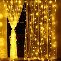 Icicle Curtain lights 306 LED Safe Low Voltage Waterfall Window fairy - $31.64