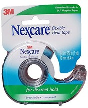 Nexcare Tape, Flexible Clear, 3/4 Inches X 252 Inches / 7 Yards Pack of 6