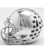 Ohio State Buckeyes Helmet Riddell Replica Mini Speed Style Chrome Alter... - $29.99