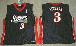 Womens Reebok Iverson Philadelphia 76ERS Jersey New M Medium New Black - $37.39