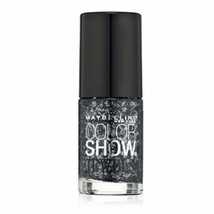 Maybelline New York Color Show Jewels Nail Lacquer, 606 Gleaming Graphite - $5.85