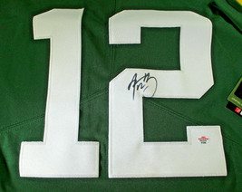 AARON RODGERS / AUTOGRAPHED GREEN BAY PACKERS PRO STYLE FOOTBALL JERSEY / COA image 3