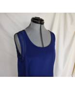 NEXX Silk Blouse top Blue M Sheer Bust 37 Sleeveless Really Cute - $18.50