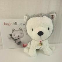 Hallmark Interactive Story Plush Husky Dog Jingle All The Way Book Chris... - $28.49