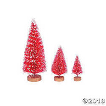 Red Frosted Sisal Tree Assortment - $5.11