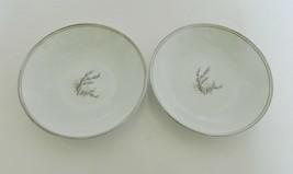 Noritake China Candice Fruit Dessert Sauce Bowls Silver Taupe Trim 5509 ... - $21.66