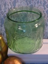 Vintage Royal Lace Hazel Atlas Green Depression Glass Cookie Jar, 1930s ... - $29.99