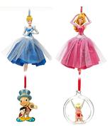 Disney Store Christmas Ornament Aurora Cinderella Tinker Jiminy Cricket ... - $44.95