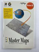 SoftKey Windows 95 Windows 3.1 MASTER MAPS Manual Personal Navigation - $12.86